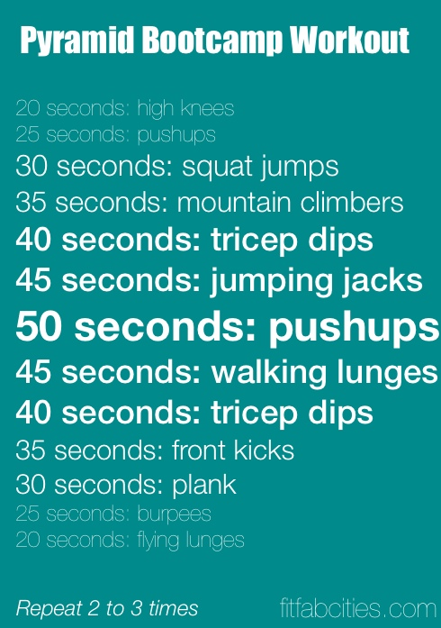 Pyramid Bootcamp Workout The Plan