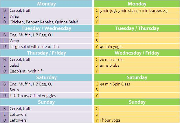 week 15 diet and fitness plan the plan